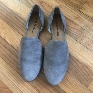 Lucky Brand Shoes - Women's Gray Lucky Brand Suede Flats